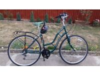 LADIES WOMEN ADULTS TIGER TOWN COUNTRY 700cc WHEEL 18INCH FRAME 18 GEAR BIKE BICYCLE