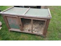 Rabbit hutch and 3 large drinkers