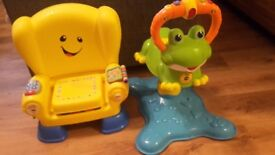 Vtech Leapfrog and Fishers Laugh and Learn Chair