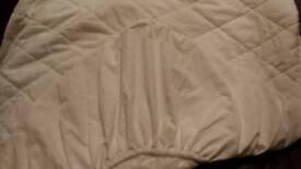 SINGLE SIZE- Waterproof backed mattress protecter