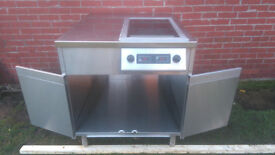 Stainless Steel Commercial Catering Hob 2 x 3kW x Two Zone Table-top Induction Hob CS3000GT