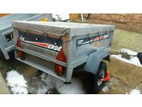Erde 122 trailer with cover