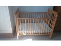 Cosatto close to me cot, bedside cot