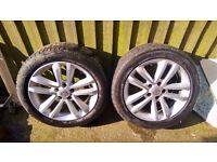 "2x 17"" Genuine Vauxhall (OPEL) Insignia,Vectra ,Signum Alloy Wheel 7Jx17H2 ET41"