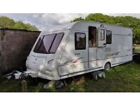 Elddis Avante 540 with motormover and Bradcott awning