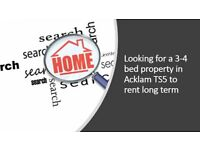 3-4 BED PROPERTY WANTED TO RENT LONG TERM ACKLAM