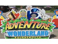 Family annual pass ADVENTURE WONDERLAND Bournemouth