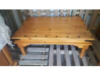 Heavy pine coffee table