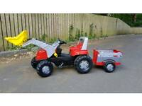Rolly Toys Pedal Tractor and Trailer