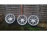 3x 19 5x120 9j Alloy wheels