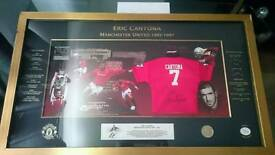 Eric Cantona special Edition signed framed shirt display with Coa