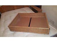 4 Wicker under-bed Storage Baskets