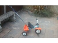 Child's Kettler Tricycle with handle