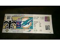 NFL Wembley ticket saints vs dolphins