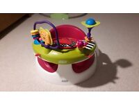 Mamas & Papas Raspberry Baby Snug and Activity Tray in Immaculate Condition