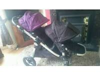 Baby jogger city select double pushchair excellent condition