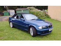 BMW 320ci SE 2.2 convertible.2001 very nice example.full history.2 owners.New m.o.t