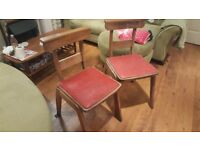 Vintage Retro Church Chairs Dining Chairs Bedside Tables Hall Pair