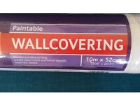 4 rolls brand new paintable wallcovering (B&Q)