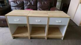 Bedside tables priced each