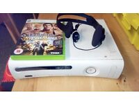 xbox 360 and headset and game