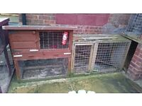 Large rabbit cage with run