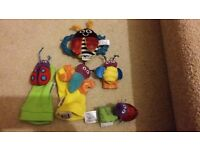 Lamaze wrist and feet rattles and butterfly rattle