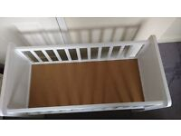 Mothercare white crib - used