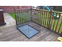 Large Dog Cage with removable plastic tray