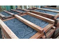 600 + paving moulds, all timber framed plus vibration table
