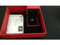 New, Never worn Palladium 1/3 Carat Diamond Engagement Ring