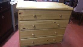 Quality Solid pine four drawer chest