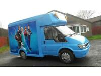 Soft ice cream van ford transit long not ready for work Frozen graphics 2.4tddi