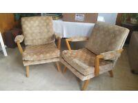 2 Retro Armchairs