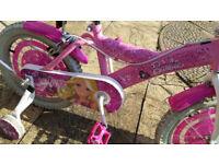 Girls Barbie Bike with Stabilizers and Balance Buddy