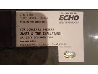 STANDING TICKET for JAMES & THE CHARLATANS Echo Arena Liverpool Saturday 10th December £50