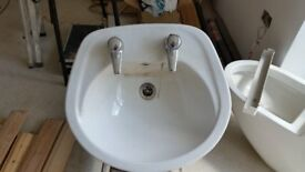 Round, deep sink, perfect for utility room