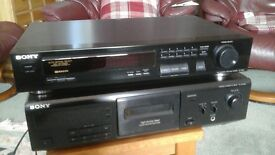 Sony Cassette player and seperate Radio Tuner
