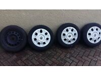 mini one 175x 65x15 wheels and tyres x4