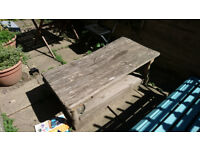FREE Wooden Garden Table (Damaged - for Scrap or Repair, collect only)
