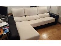 SOFA CHAISE LONGUE+ 6 PUFF CHAIR