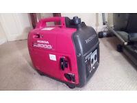 Honda EU2000i Companion Super Quiet Portable Petrol Generator Inverter £500 ovno.