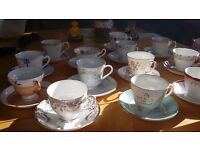 Vintage tea cups and plates for hire