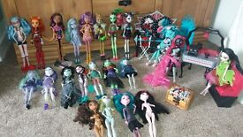 Monster high dolls and play sets