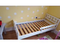 Bed frame with slatted bed base 70 x 160