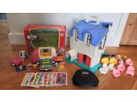 WOW KATIE CAMPER'S HOLIDAY VAN + FISHER PRICE DOLLS HOUSE + DISNEY PRINCESS CARDS RRP£65
