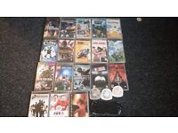 sony psp for spares or repair with 21 games and 1 movie
