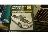 Haynes rover 75 & mg zt service and repair manual 99-06