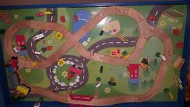 Wooden Train Set & Table