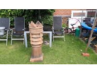 Attractive King Crown Chimney Pot, 80+ Years Old, Suitable Garden Decoration